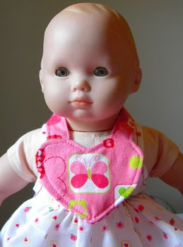 Making Doll Clothes – #3 Easy Dolly Bib