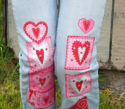 Patching Jeans with Applique