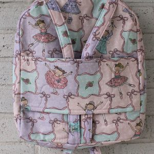 Back View of Ballerina Doll Carrier Backpack