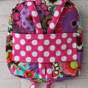 Bright Flower Pink Dot Doll Carrier Backpack