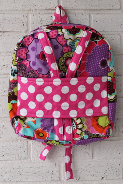 Bright Flower Pink Dot Doll Carrier Backpack