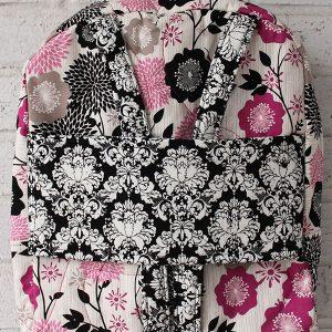 Fuschia Damask Doll Carrier Backpack