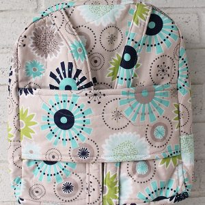 Gracie Girl Grey and Blue Doll Carrier Backpack Front View