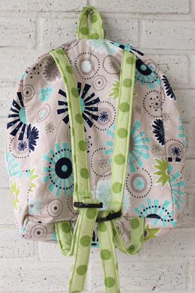Gracie Girl Green Dot Doll Carrier Backpack Front View