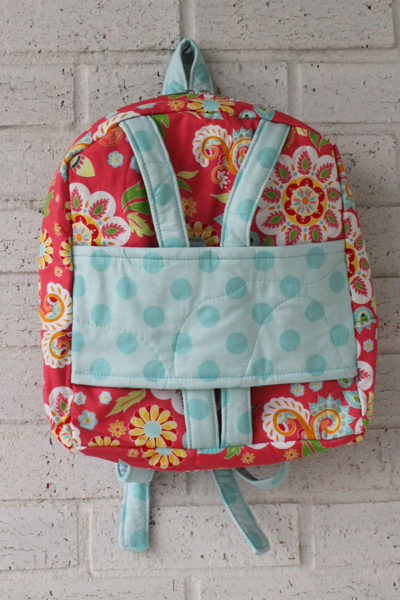 Medium Flower Dot Doll Carrier Backpack Front View