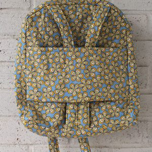 Medium Flower Power Doll Carrier Backpack Front View