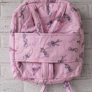 Pink Wand and Tiara Doll Carrier Backpack Front View