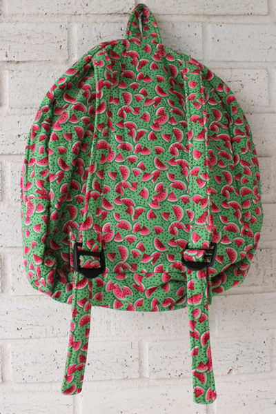 Watermelon Doll Carrier Backpack Back View
